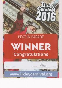 Carnival 2016 Best in parade winner